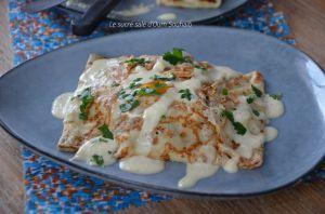 Recette Crêpes salées viande kefta à la sauce fromage
