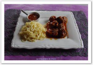 Recette Joue de porc a la sauce pimenton
