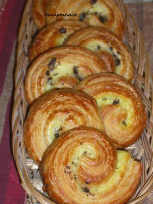 Recette Pains aux pépites de chocolat façon pains aux raisins
