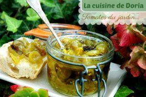 Recette Confiture de tomates cerises vertes et verveine