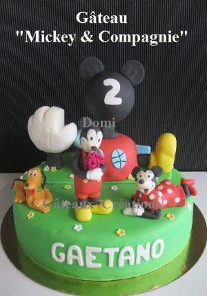 """Recette Gâteau """"Mickey & Compagnie"""" en Pâte à Sucre"""
