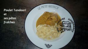 Recette Poulet tandoori et ses pâtes fraîches au cookeo