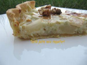 Recette Tarte roquefort poire noix