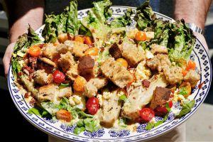Recette Salade gourmande, mais allégée et grillée