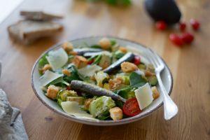 Recette Salade caesar à la sardine