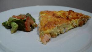 Recette Quiche au saumon sans pâte - recette de quiche