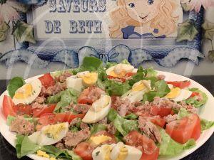 Recette Salade au thon / Salada de Atum