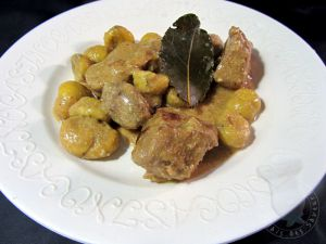 Recette Mijoté de veau aux châtaignes