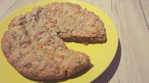 Recette Maxi cookies aux M&Ms et smarties