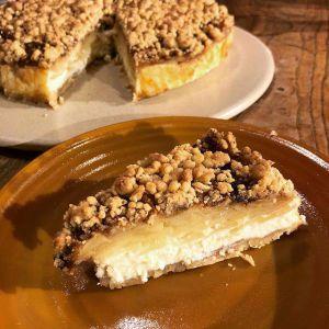 Recette Cheesecake aux pommes et crumble lituanien