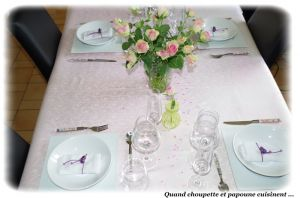 Recette Ma table roses speciale fete des meres