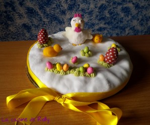 Recette Gâteau de Pâques en pâte à sucre