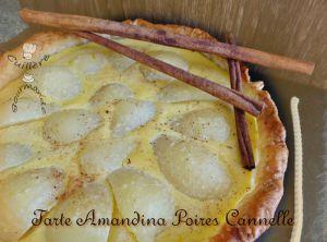 Recette Tarte amandes poires cannelle