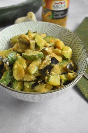 Recette Courgette et aubergine crémeuses au pesto