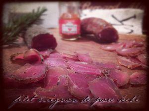 Recette Filet mignon de porc séché