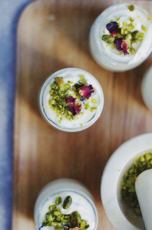 Recette Yaourts à la grecque, miel et pistaches