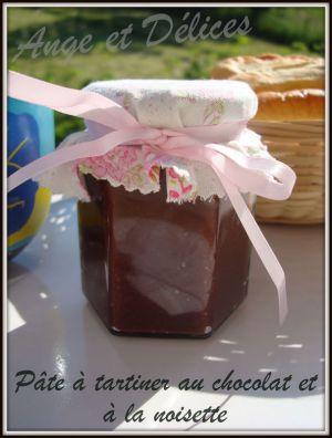 Recette Pâte à tartiner au chocolat et à la noisette