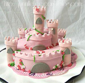 Recette Gateau chateau de princesse { pâte à sucre } { gateau 3d }