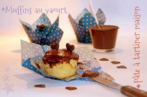 Recette Muffin au yaourt & pâte à tartiner maison