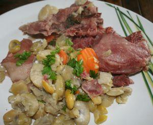 Recette Joues (museau) de porc aux fèves
