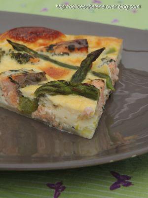 Recette Quiche asperge-saumon
