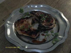 Recette Côtes de porc au miel