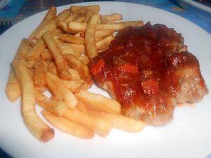 Recette Cotes  de  porc  sauce  tomate  fraiche