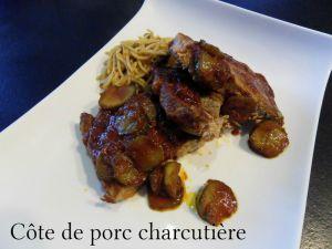 Recette Cote de porc charcutière