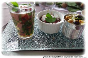 Recette Barquettes de legumes crus cuits au verjus