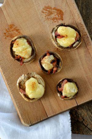 Recette Champignons farcis au lard et fromage