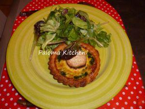 Recette Tartelettes épinards et fromage de chèvre