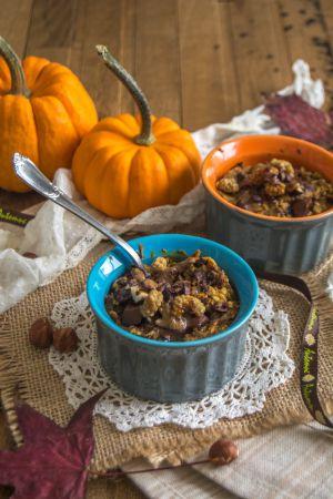 Recette Porridge au potimarron et noisettes au four