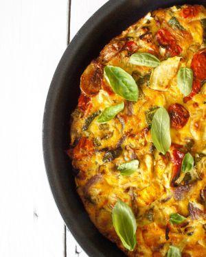 Recette Ma frittata aux légumes