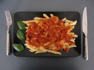 Recette Pâtes sauce tomate & chorizo