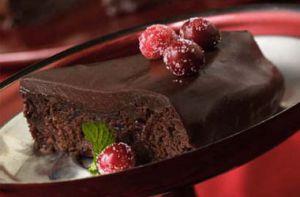 Recette Gâteau fondant au chocolat et aux canneberges