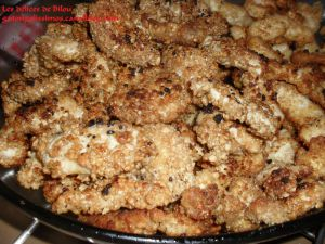 Recette Nuggets de poulet aux cacahouetes