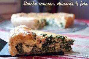 Recette Quiche saumon, épinards et féta