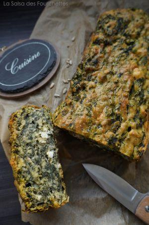 Recette CAKE Epinards Feta et Graines de Tournesol