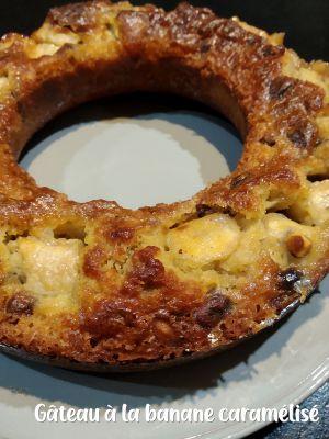 Recette Gâteau à la banane caramélisé