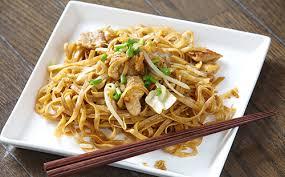 Recette Nouilles chinoises sautées au poulet