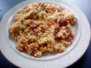 Recette Riz à l'espagnol et lardons au cookéo