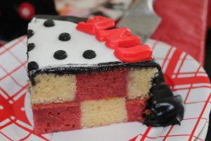 Recette Gâteau damier fraise et citron (déco Minnie)