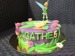 Recette Gâteau fée clochette en pâte à sucre