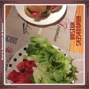 Recette Hamburgers pains  Thermomix ou pain du commerce