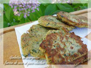 Recette Beignets de courgettes à la farine de pois-chiches et coco