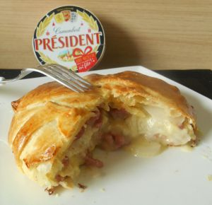 Recette Feuilleté au camembert & lardons
