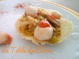 Recette Saint Jacques en coquille de parmesan