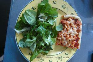 Recette Pizza liquide au poulet rôti