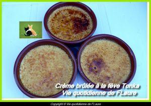 Recette Crème brûlée à la fève Tonka
