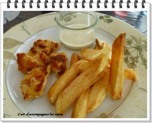 Recette Nuggets de poulet et sauce au Roquefort